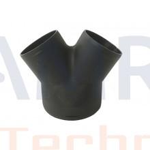 Eberspächer gelijk Y-stuk 75/60/60 mm kunststof 45 - 45°