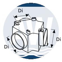 Webasto Luchtverdeelstuk 60X60X60 mm met klep