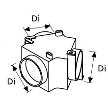 Webasto Luchtverdeelstuk 90X90X90 mm met klep