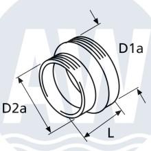 Webasto Adapter ring 90-80 mm tbv uitblaasrooster kachel