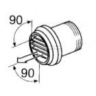 Webasto Luchtuitstroommond met slangaansluiting 80 mm, 90°, verstelbaar