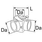 Webasto Luchtverdeelstuk 80/80/80 mm met klep